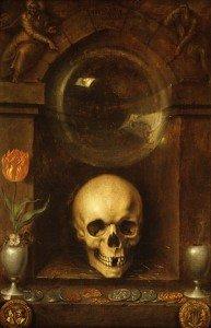 Le bizarre dans LEVEE DU VOILE Jacques_de_Gheyn_II_-_Vanitas_Still_Life_-_1603-193x300
