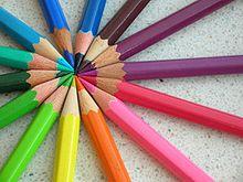Les couleurs de la vie dans CHEMIN le MOINS FREQUENTE crayon
